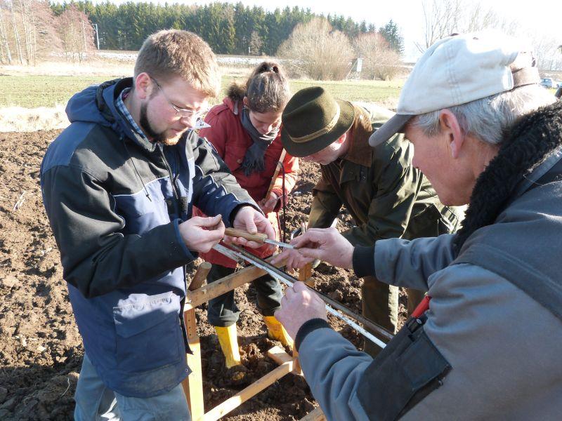 Bohrkern zur Analyse der Bodenstruktur